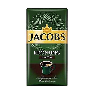 Jacobs Kronung - Strong Coffee -  Original German Ground Coffee - 500g /17.63 oz