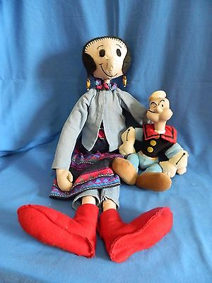 Popeye and Olive Oil Dolls Toys