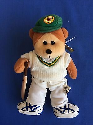 "Skansen Beanie Kids  ""ASHES the CRICKET PLAYER Bear  """