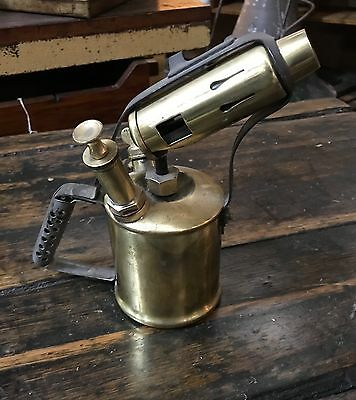 Antique Brass Primus Blow Torch Lamp Max Sievert