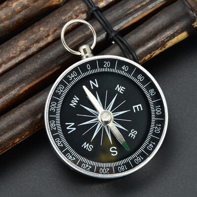 Outdoor Camping Wandern Silber Portable Pocket Compass Outdoor Navigation Neu