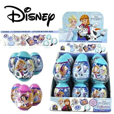 PRINCESS/FROZEN Surprise Egg Collection Vanilla Cookie Kids Sweets Candy Toy UK