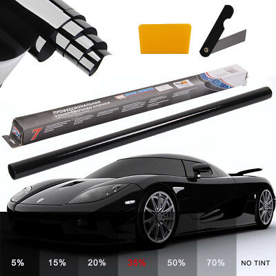 PRO LIGHT SMOKE 35% CAR WINDOW TINT ROLL 6M x 76CM FILM TINTING ANTI-SCRATCH