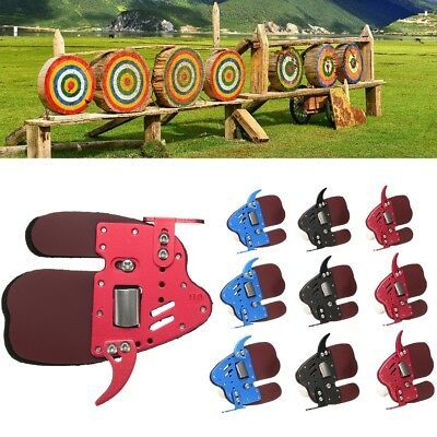 HOCKII Leather Archery Finger Guard Protector Glove Tab Shooting For Right Hand