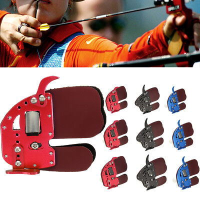 RUGBII Leather Archery Finger Guard Protector Glove Tab Shooting For Right Hand