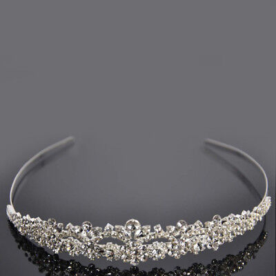 USA Women Wedding Bride Bridemaid Crystal Bridal Tiara Crown Headband Hairband