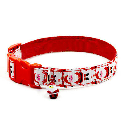 Red Merry Christmas Bell Dog Basic Collars Harness necklace Clothing For Dogs
