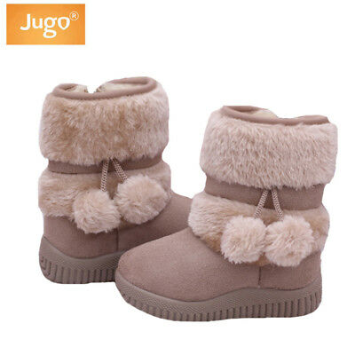 Children Boots Winter Warm Casual Zip Mid-Calf Kids Shoes Girls Snow Boots