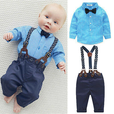 US Newborn Baby Boy Girl Long Sleeve Top T-shirt+Pants 2pcs Outfits Clothes Set