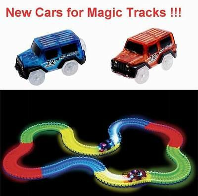 New 1 Car for Magic Tracks Glow in the Dark Amazing Racetrack Light Up Race Car