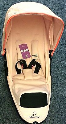 New Quinny zapp Xtra 2.0 complete seat unit Black Frame Pink Pastel NEW