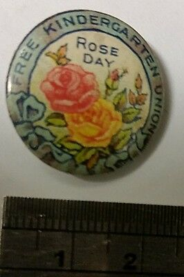 1920s Pin/Badge • Rose Day - Free Kindergarten Union