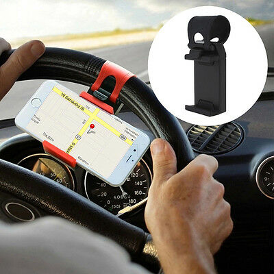 Car Steering Wheel Phone Universal Mount Holder Stand for Cell Phone Clip GPS