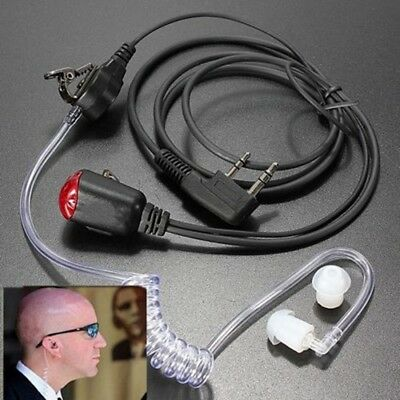 2 Pin Acoustic Ear Tube Headset Earpiece Mic Covert for Kenwood Two-Way Radio