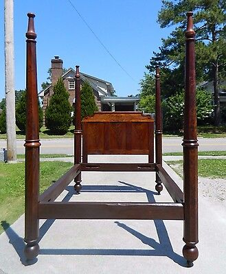 Gorgeous American Empire Mahogany Poster Bed~~Can be used as Queen~~circa 1840