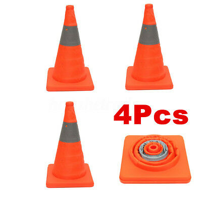 4x Portable Pop Up Multipurpose Folding Traffic Cone Driving Safety Warning
