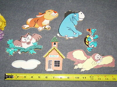 Lot Of Vintage Walt Disney Productions & Dolly Toy Co Wall Decor