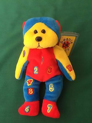 "SKANSEN BEANIE KIDS  "" DIGIT the NUMBER Bear """