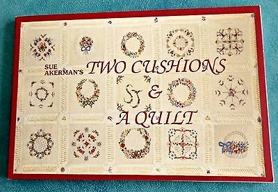 TWO  CUSHIONS  and a QUILT ~ Complete Guide ~ 1994 SC Book by Sue Akerman GC