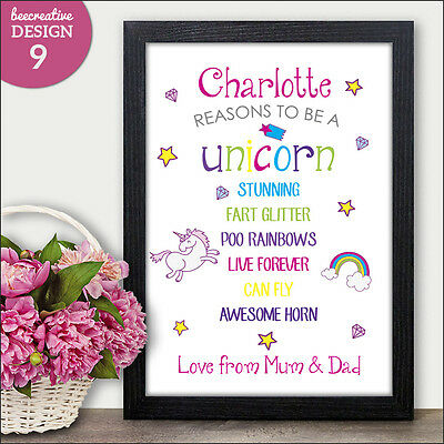 UNICORN Personalised Birthday Christmas Keepsake For Her Daughter Granddaughter