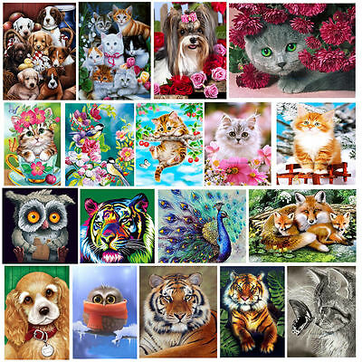 5D DIY Diamond Painting Flower Animals Embroidery Cross Crafts Stitch Gift Decor