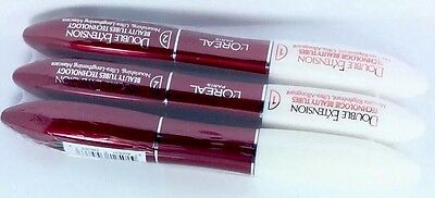 3 Stuck L'oreal LOREAL DOUBLE EXTENSION MASCARA Beauty Tubes Technology & OVP