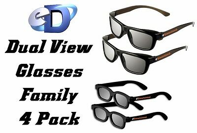 Edimensional 4 Pack 3D Brille Brillen Kino Real D Sony Lg Philips Toshiba Dual