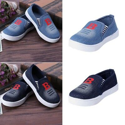 Toddlers Kids Boys Girls Cowboy Canvas Prewalker Loafter Sneakers Casual Shoes