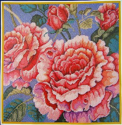 "Bucilla Needlepoint Petit Point ""Roses"" Kit NEW Craft Tapestry Embroidery USA"