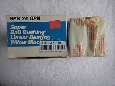 NIB THOMSON Super Ball Bushing Linear Bearing     SPB 24 OPN     SPB24OPN