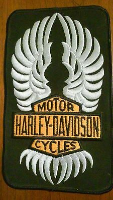 "RARE Vintage NOS Harley Davidson Motor Cycles Vertical Patch  8 1/2"" x 5"""