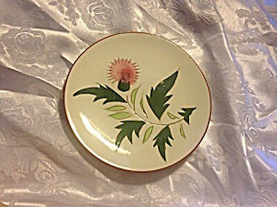 Vintage Set of Two Stangl Pottery Dinner Plates In The Thistle Pattern