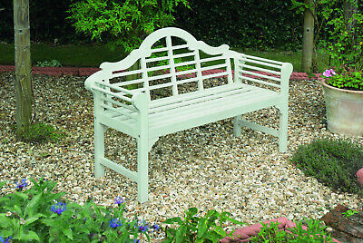Incredible Lutyens Garden Bench Solid Fsc Acacia Hardwood White Finish Ncnpc Chair Design For Home Ncnpcorg