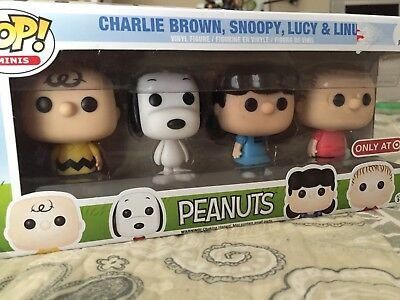 Peanuts Pop Mini Vinyl Figurine Set Snoopy Lucy Charlie New In Box
