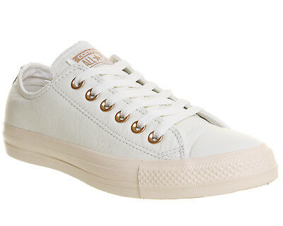 Womens Converse All Star Low Leather Pastel Rose Egret Blush Gold Exclusive  Trai eff1bb66b0
