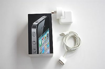 Apple iPhone 4S Black 16GB Box w/ Charger **BOX ONLY**