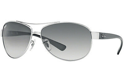 Ray-Ban RB3386 003/8G Silver/Black Frame Grey Gradient 67mm Lens Sunglasses