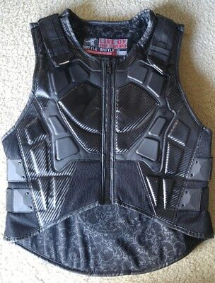 Live By The Sword Motorcycle Vest - Black - Medium - Speed and Strength - CE App