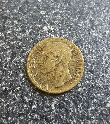 Italy Coin 1940 Italia Vitt EM III RE.E.IMP Italian money foreign currency