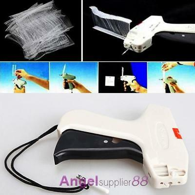 Durable Price Label Tagging Tag Gun +1000 Barbs 3'' Tag Plastic Rope +1 Needle