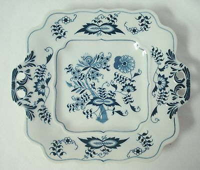 """Blue Danube Japan 10"""" Handled Square Cookie Tray Rectangle Mark Blue Onion Plate"""