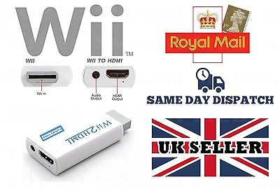 Wii To Hdmi Adapter Wii2Hdmi Output 1080P 720P Converter 3.5Mm Audio Full Hd
