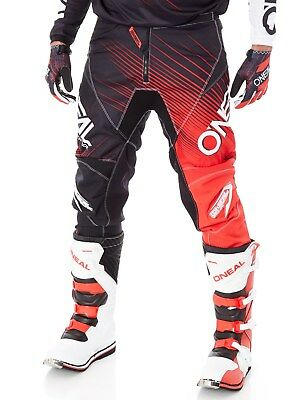 Oneal Black-Red 2018 Element Racewear MX Pant