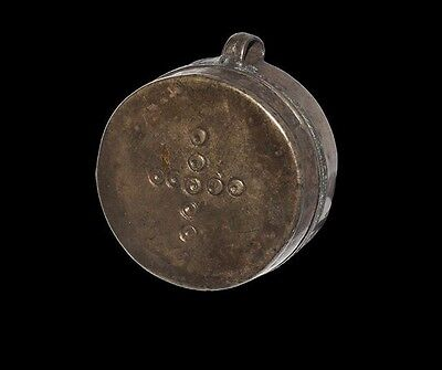 Byzantine Silver Box With Ring & Dot Cross Design 9Th - 12Th Century A.d.