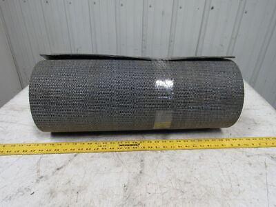Interwoven Polyester Black PVC Crescent Top Conveyor Belt 20' X 25-1/2""