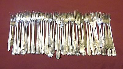 Vintage Silver Plated Silverware Flatware Cocktail Forks Lot Of 50 Miscellaneous