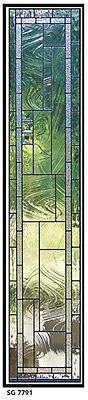 Door Stained Glass sidelights  SG 7791  We custom make all sizes