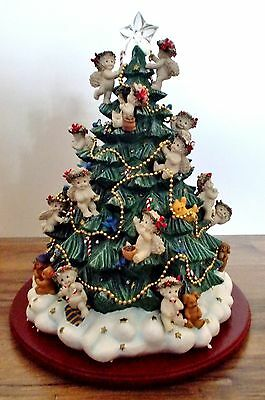 Danbury Mint DREAMSICLES Angels CHRISTMAS TREE Lighted w/Intricate Details 2001