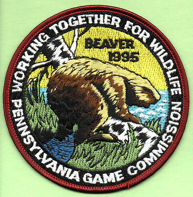 Pa Penna Pennsylvania Game Commission NEW WTFW 1995 Beaver collectible patch
