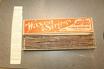 Dayton Ohio Vintage Waxed Strings Sealing Fruit Jars Cans Dicks Pontius Co NOS